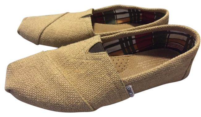Item - Tan Burlap Flats Size US 8 Wide (C, D)