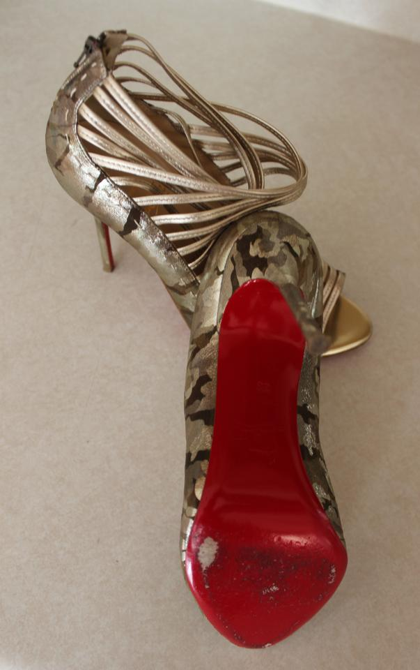 Artesur ? christian louboutin Gortika suede and leather peep-toe ...