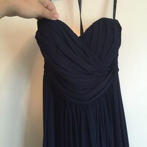 Bill Levkoff Navy Blue Dress