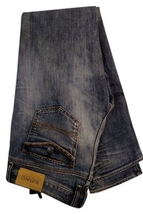 Buffalo David Bitton Long Straight Leg Jeans-Medium Wash