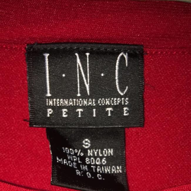 INC International Concepts Top Red/white Houndstooth