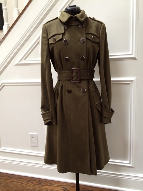 Gucci Military Logo Trench Coat