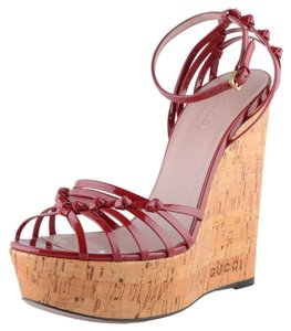 Gucci Red Wedges