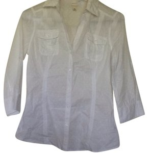 Merona Button Down Shirt White