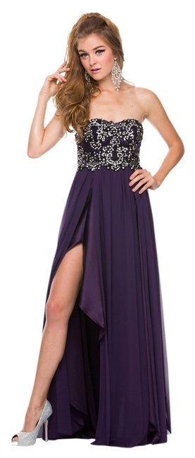 Preload https://img-static.tradesy.com/item/796164/plum-2554-long-night-out-dress-size-8-m-0-0-650-650.jpg