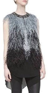 Haute Hippie Ostrich Feathers Embellished Vest