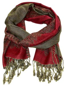 Large Double Sided Fringed Pashmina Wrap Scarf Shawl A0903