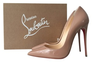 Christian Louboutin 120mm So Kate Pigalle Follies Beige Patent Leather Classic 120 Classic So Kate 120 Nude Pumps
