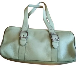 Cole Haan Leather Satchel in Light Lime Green