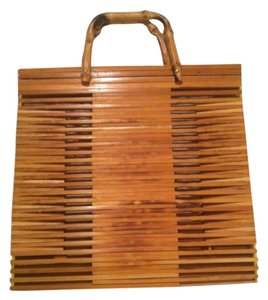 Other Vintage Bamboo Satchel in Light brownish