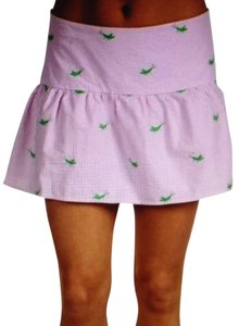 Lilly Pulitzer Mini Skirt Pink and White Stripes