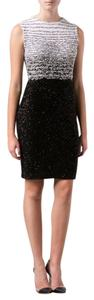 Oscar de la Renta Sequin Knit Sheath Dress