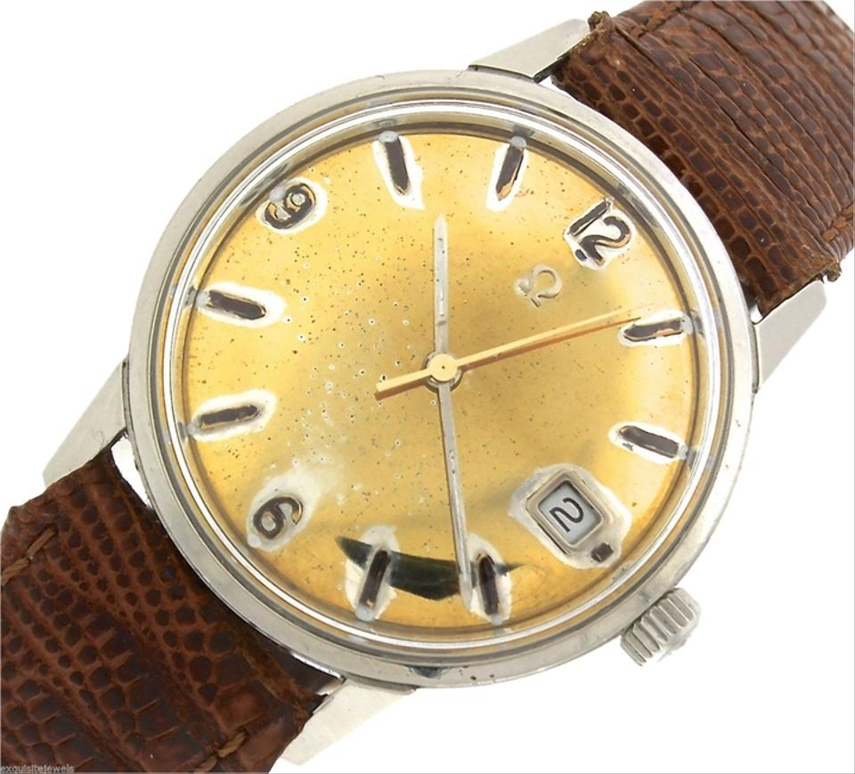 45641f35c1d Omega Vintage Mens 1969 Omega Seamaster Automatic 166.037 SP Stainless Gold  Date Watch Image 0 ...