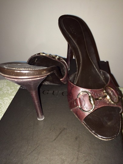 Gucci Dark Brown Sandals