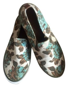 Tory Burch Brown, turquoise, tan Flats