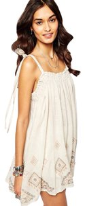 Free People short dress {nwt} Embroidered Sun on Tradesy