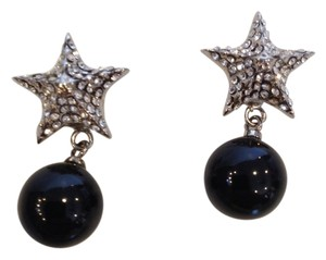 Givenchy GIVENCHY NWT CRYSTAL & BLACK DROP STAR EARRINGS