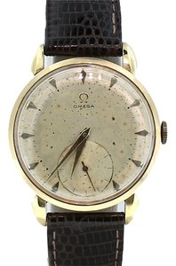 Omega Omega Sub Second Wind Up 17 Jewels GOld Plated Automatic Watch