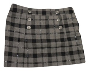 Gap School Girl Salior Uniform Mini Skirt Grey and black plaid
