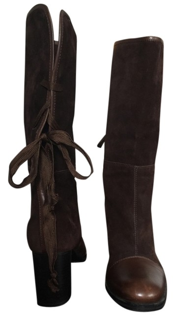 Item - Brown Suede Cap Toe Lace Boots/Booties Size US 9.5 Regular (M, B)