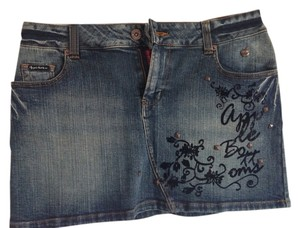 Apple Bottoms Mini Skirt Denim