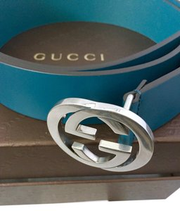 Gucci Green Leather Interlocking G Belt