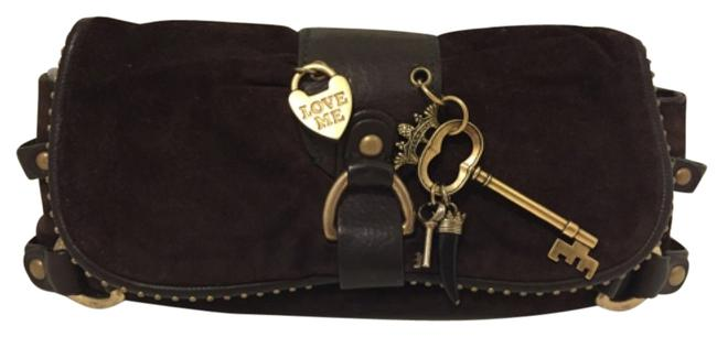 Item - With Gold-tone Hardweare Brown Leather Clutch