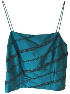 Ann Taylor Top Aqua green with beads