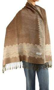 Large Double Sided Fringed Pashmina Wrap Scarf Shawl A0912