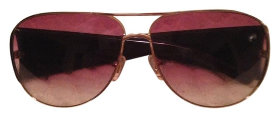102b754af42 Marc Jacobs Purple and Gold Aviator with Case Sunglasses - Tradesy