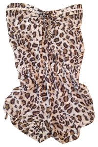 Ash & Emee Romper Animal Print Leopard Dress