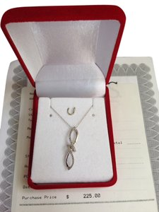 Reeds Jeweler 10K White Gold Twist Infinity Necklace ~ Marked JWBR with Certificate