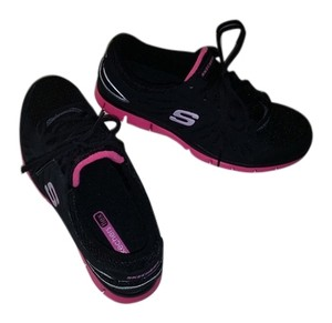 Skechers flex Black with pink Athletic