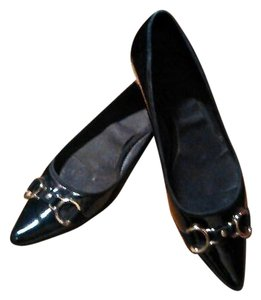 Cole Haan Patton Leather Black Flats