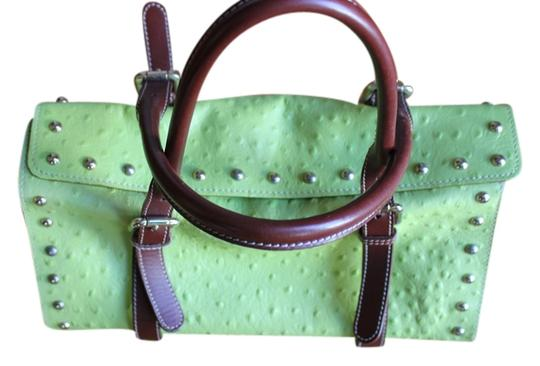 Preload https://img-static.tradesy.com/item/796574/cluadia-firenze-made-in-italy-genuine-green-and-brown-with-gold-hardware-leather-shoulder-bag-0-0-540-540.jpg