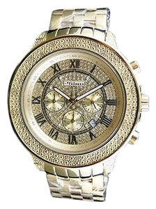JoJino Mens 51 MM Jojino/Joe Rodeo Aqua Master Chrono Metal Band Diamond Watch Mj-1191