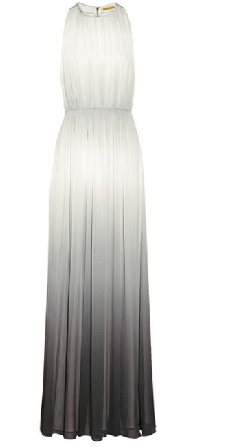 Item - Grey-white Ombre Chiffon Jinny Georgette Gown Feminine Bridesmaid/Mob Dress Size 6 (S)