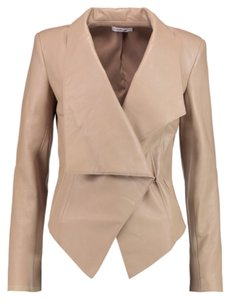 Helmut Lang Beige Leather Jacket