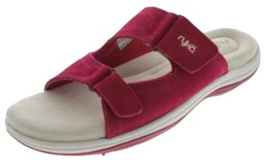 Ryka Maroon & White Sandals
