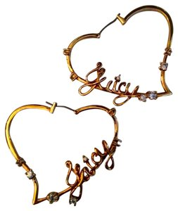 Juicy Couture Gold Heart Juicy Earrings