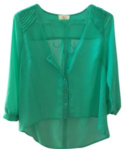 Pins and Needles Top Mint Green