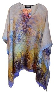 Dilemma Hand Painted Monet Unique Rayon Tunic