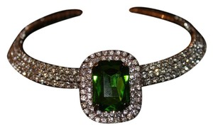 Other Green Glass and Austrian Crystal Choker