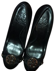 Tory Burch Black-gold logo Pumps
