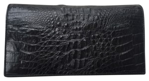 Genuine Crocodile leather wallet clutch Black Genuine Crocodile Clutch