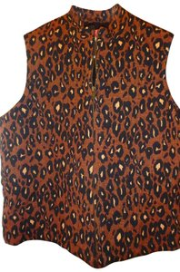 Jennifer Moore Animal Print Pettite New With Tags Vest