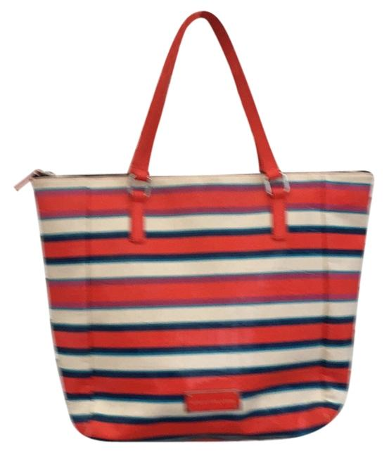 Item - Extra Large Striped Tote Red and Black Beach Bag
