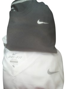 Nike T Shirt White Vneck & gray crewneck