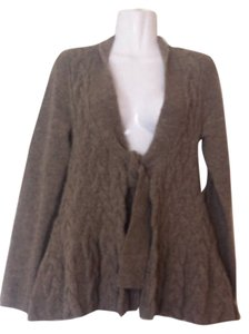 Anthropologie Sparrow Chunky Knit Cable Front Tie Cardigan Sweater