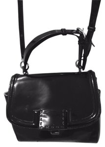 Fendi Leather Satchel in BLACK+PALLADIUM